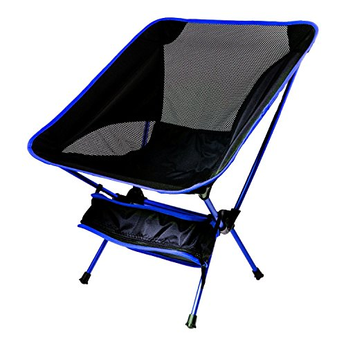 Ultraleicht Klappstühle Compact Ultralight Folding Backpacking Chair with a Carry Bag ,Hiking Chair & Camp Chair for Garden Balcony and Festival Outdoor Camping Chair Fishing - Ultra Light Camping Chair (blau) (Double-camping-stuhl)