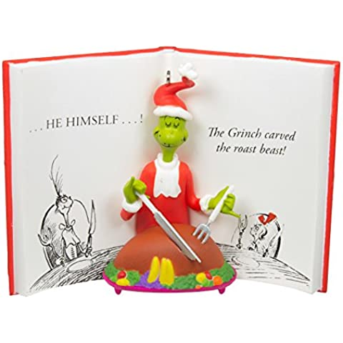 Hallmark 2016 decorazione natalizia Dr. Seuss the Grinch intagliato la bestia Roast Ornament