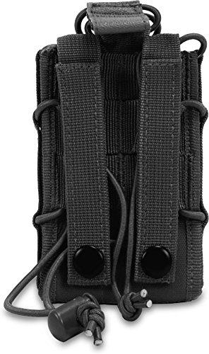 Funkgerätetasche mit Molle Befestigungssystem Schwarz