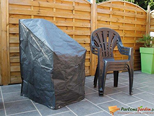 Nature Housse pour chaises empilées 110 x 68 cm PE gris foncé