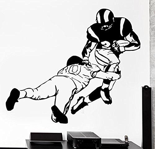 GGWW Wall Sticker Sport Football Wide Receiver Quarterback Super Bowl Vinyl Decal (Z2966)