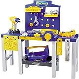 Unbekannt Kinder Werkbank mit Zubehör, 31 Teile, Höhe 61 cm: Werkzeugbank Spielzeug Kinderwerkzeug Werkstatt Werkzeugbox