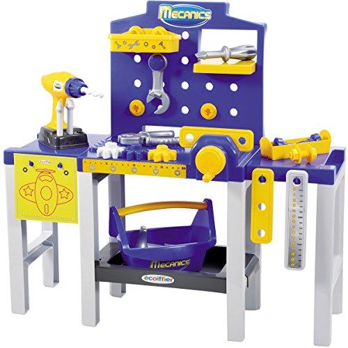 Kinder Werkbank mit Zubehör, 31 Teile, Höhe 61 cm: Werkzeugbank Spielzeug Kinderwerkzeug Werkstatt...
