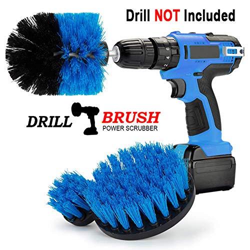 """Swonuk Drill Brush, 3pcs bohrmaschine bürstenaufsatz 2""""3.5"""" 4"""" Power Scrubbing Auto Bürste für Auto, Teppich, Badezimmer, Holzboden, Waschküche,Küche (Blau)"""