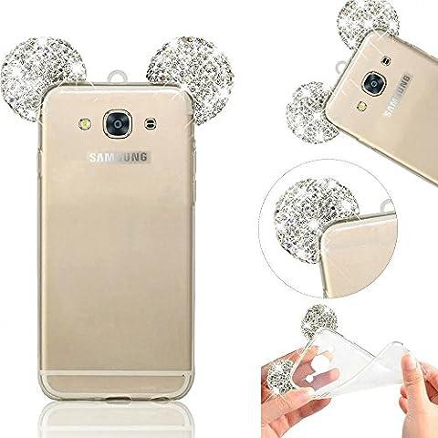 MOMDAD Transparente Coque pour Samsung Galaxy J3 2016 TPU Silicone