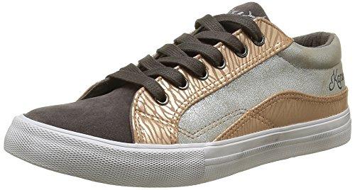 KaporalAmel - Sneaker Donna , Grigio (Gris (Gris Argent)), 38