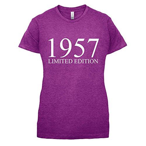 1957 Limierte Auflage / Limited Edition - 60. Geburtstag - Damen T-Shirt - 14 Farben Beere
