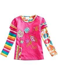 VIKITA Mädchen Baumwolle Langarm T-Shirt Top 1-6 Jahre