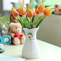Xin Pang Lily Fake Flor Flor Artificial Salón Decoración Mesa De Café En La Decoración del Hogar Ramo De Flores Flores Flores De Plástico, Plástico Jarrón ...