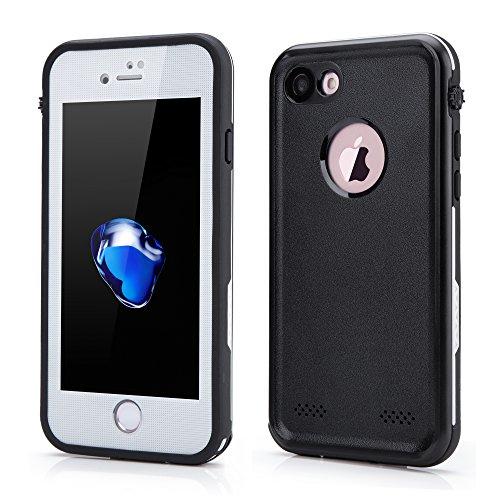 OKCS Waterproof Case für Apple iPhone 6 Plus, 6s Plus Schutzhülle Wasserdicht Outdoor Case Hardcover Rundumschutz Premium Edition in weiß