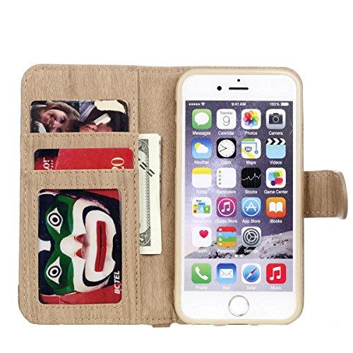 iPhone Case Cover Housse IPhone 6S, motif de tissage PU Housse de protection en cuir Housse de support avec porte-cartes et cadre photo pour Apple IPhone 6S 4.7 ( Color : 3 , Size : IPhone 6S 4.7 ) 4