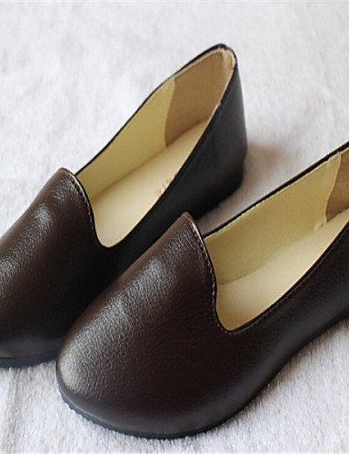 ShangYi punta aguzza pattini piani delle donne di colore casuale; marrone / rosso / beige / nero / bianco Black