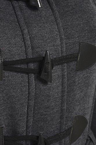 SS7 Damen Übergröße Kapuze Mantel, die Größe von 16 bis 28 Dunkelgrau