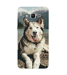 PrintVisa Designer Back Case Cover for Samsung Galaxy J2 Prime G532M G532F G532G (Dog A Man'S Best Friend)