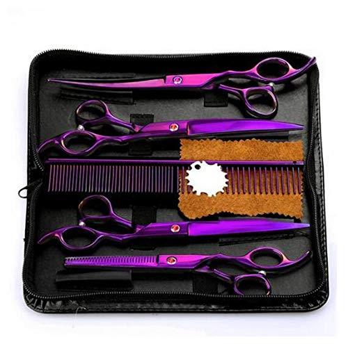 4 Teile/satz Professionelle Salon Friseurschere Friseurscheren Haarschnitt Tool Kit mit Kamm für Hundesalon Haar Styling 7,0