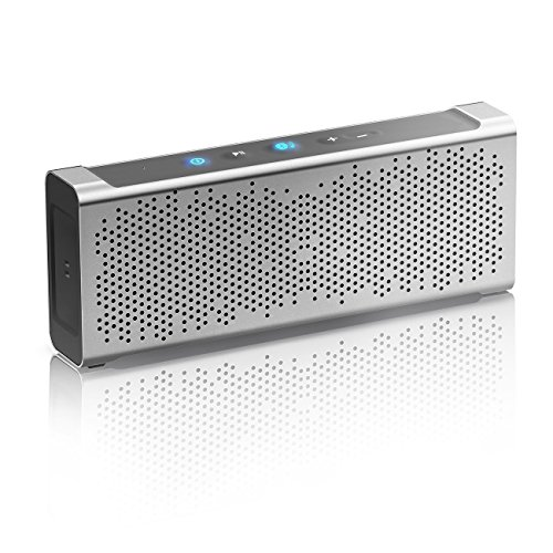 Price comparison product image Inateck Waterproof Ultra-Portable Wireless Bluetooth 4.0 Speaker with Aluminum Body,15 Hour Playtime, High-Def Sound for iPhone, iPad or other phones/tablets/laptops, IPX5 Waterproof, Silver - MercuryBox