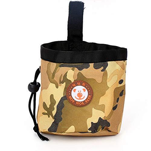 WRF Pet Snack Bag - Camouflage Activity Welpentraining Wasserdichter, Abnehmbarer Welpenfuttertasche Isolationssnacks für Speisen im Freien Belohnungspaket Zusammenklappbare Reise