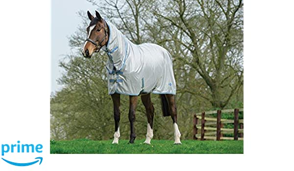 Bridleway Fly Sheet Horse Rug White//Navy
