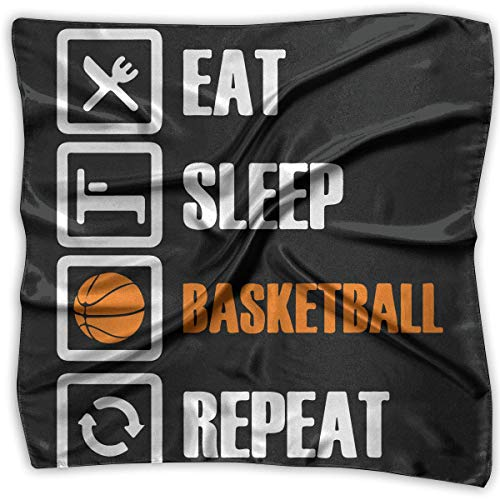 Hoklcvd Eat Sleep Basketball Repeat1 Men Women Silky Scarf band Bandana Scarves Set
