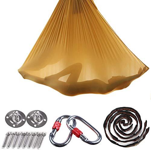 Brinny Yoga DIY Silk Pilates Premium Aerial Silks Equipment Aerial Yoga Tuch Aerial Silk elastische Yoga Hängematte mit Stoff Zubehör 5 Meter -