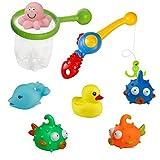 Angel-Spielzeug-Set mit Fischen