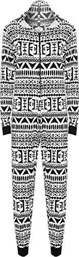 WearAll - Combinaison à capuche avec les imprimés variés - Combinaisons - Femmes - Tailles 36 à 42 Block imprime