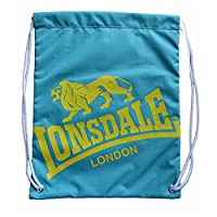 Lonsdale Printed Gym Sack Bag Training Sports Accessories Teal/Yellow One Size
