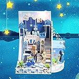 Anelli cinesi BeesClover D030 DIY Mini Villa Modello Grande casa delle Bambole in Legno mobili 3D Puzzle di Legno Modello Costruzione Come da Immagine Articoli per giochi di magia