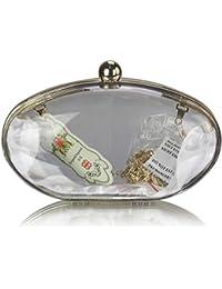 Pour femme Fermoir Transparent Boîte Soirée (17,8 x 10,2 cm) avec housse PreciousBags