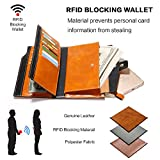 Women's RFID Blocking Wallet Super Large Capacity Luxury Purse Oil Waxed Cowhide Leather Clutch Wallet with Gift Box & Zipper Pocket for iPhone 8/7 Plus & 20 Card Slots Perfect for Female Gift (Brown)