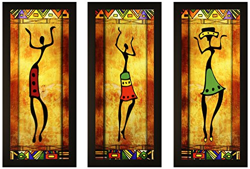 SAF Framed Painting (Wood, 15 cm x 3 cm x 38 cm, Set of 3)