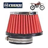 NIBBI Racing Parts Filtre à air haute performance pour moto 55 mm Dirt Bike Filtre...