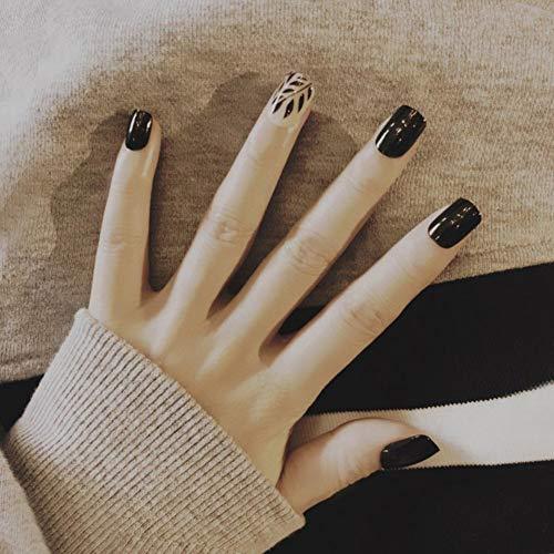 Sue-supply adesivi per unghie consigli per unghie finte adesivo per manicure a forma di colore misto misto pop. 24 pezzi e colla