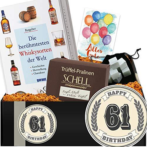 Geschenkidee 61. Jubiläum | Whisky Box | 61 Geburtstag Geschenke Opa