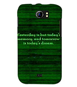 PrintDhaba Quote D-4918 Back Case Cover for MICROMAX A110Q CANVAS 2 PLUS (Multi-Coloured)