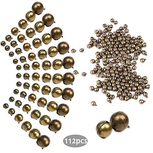 112 colgantes de bronce envejecido de 9 tamaños para pulseras, collares, joyas, atrapasueños, diademas, decoraciones de Navidad, suministros para manualidades