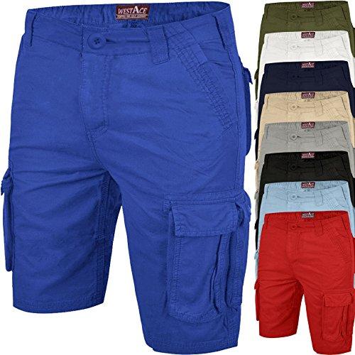 ff21946024 ▷ Shorts WestAce Mens Cargo Shorts Chino Casual Combat Summer...