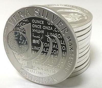 Preisvergleich Produktbild Zanzibar Echt Silver 2015Max Secure QR Code Tansania 1000Shillings 1Unze (31,1GR.) Silber 999Silver Coin Kapsel Währung