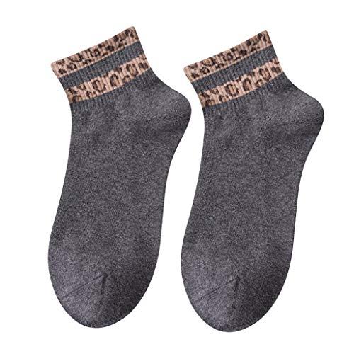 (kolila 1 Paar Damen Frühling Sommer Socken Neueste Verkauf Komfort Baumwolle kurze Socken Damenmode Leopard Drucken Socken Strumpf)