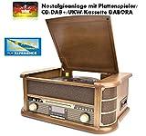 NEWTRO Nostalgieanlage mit Plattenspieler/CD/DAB+/UKW/Kassette DABORA