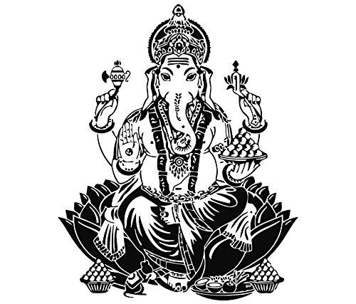 Mano de Hamsa dodoskinz Buda Arte de la pared del elefante indio Oum pegatinas de vinilo adhesivo de decoración para el hogar Interior Om diseño dormitorio yogastudio (MN788)