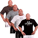 C.P.Sports Body Rang Top - Halbarm, Fitness - Shirt, Bodybuilding - Shirt, Hellgrau, XXL