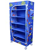 Little One's | 6 Shelves Foldable Wardrobe | Aquatic Blue