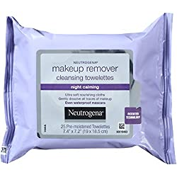 Neutrogena Makeup Remover Cleansing Towelettes Night Calming, 25 Count