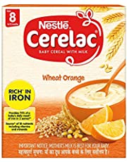 Nestle Cerelac Fortified Baby Cereal with Milk, Wheat Orange – From 8 Months, 300g Pack