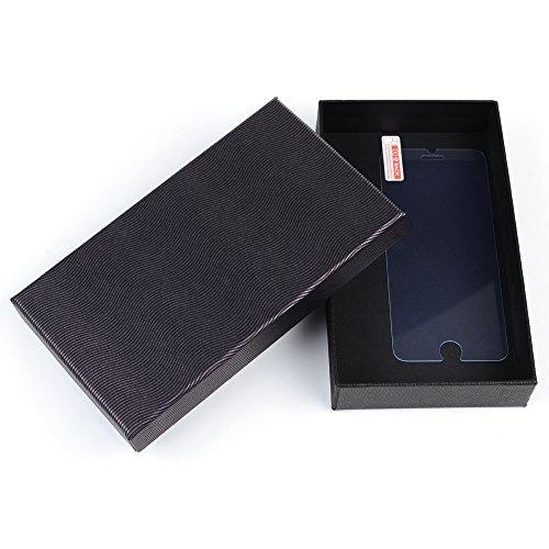Mavis's Diary Gemalt TPU Softcase für iPhone 6 6S(4,7 Zoll) Smartphone Tasche Hüllen Scratch Telefon-Kasten Handyhülle Scrub + 1x Hartglas Stahlfolie(Anti Blaues Licht) Schwarz