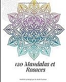 120 Mandalas et Rosaces: Mandalas pour méditer, livre De Coloriage Pour Adultes