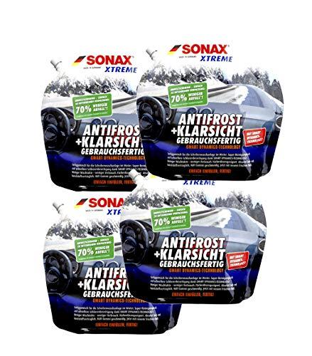 4x SONAX XTREME 232441 AntiFrost+KlarSicht Gebrauchsfertig, 3 Liter