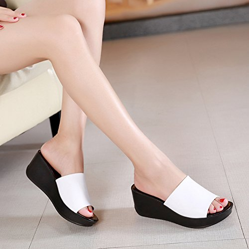 ZPPZZP Ms sandali pantofole spessa pendenza come segue 38EU