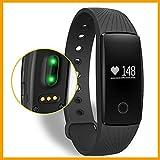 Pulseras de fitness,Smart band pulso Monitor Pulsera Fitness Tracker remota cámara para Android iOS tracker de Bluetooth. (negro)